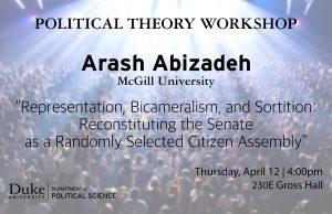 Political Theory Workshop hosts Arash Abizadeh