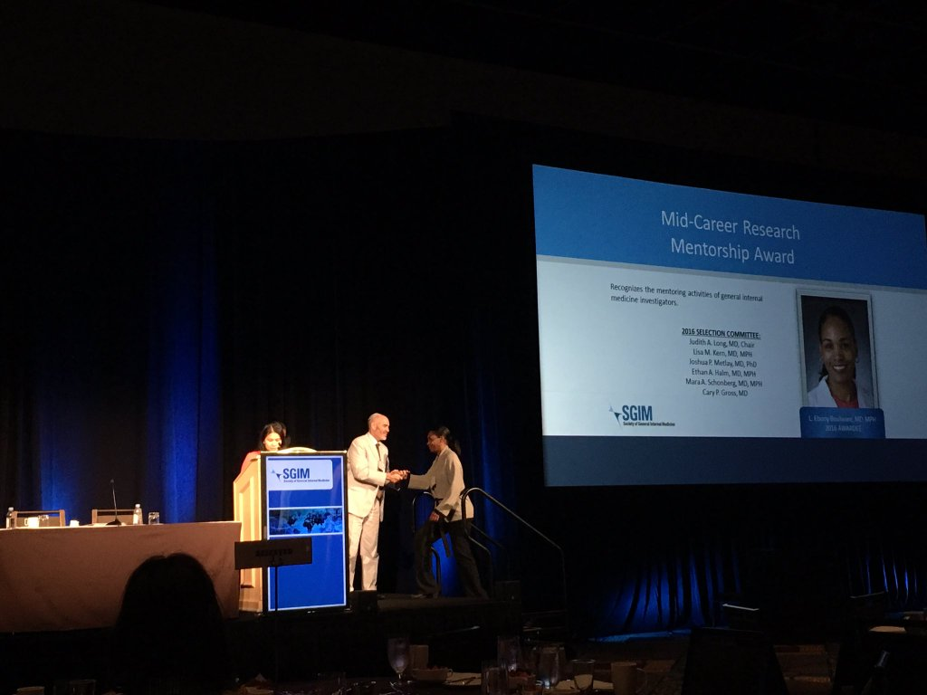 sgim news and photos duke general internal medicine dr boulware receives mid career research mentorship award