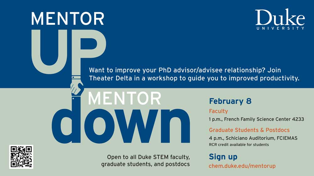 mentor up workshop flyer