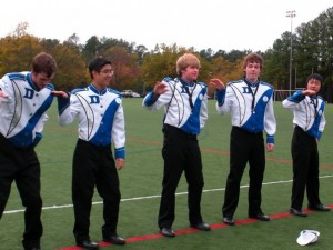 The 2009/10 Bass Section doing the Single Ladies dance