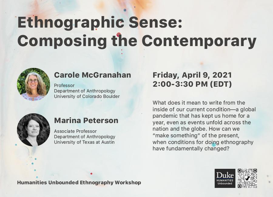 Ethnographic Sense: Composing the Contemporary