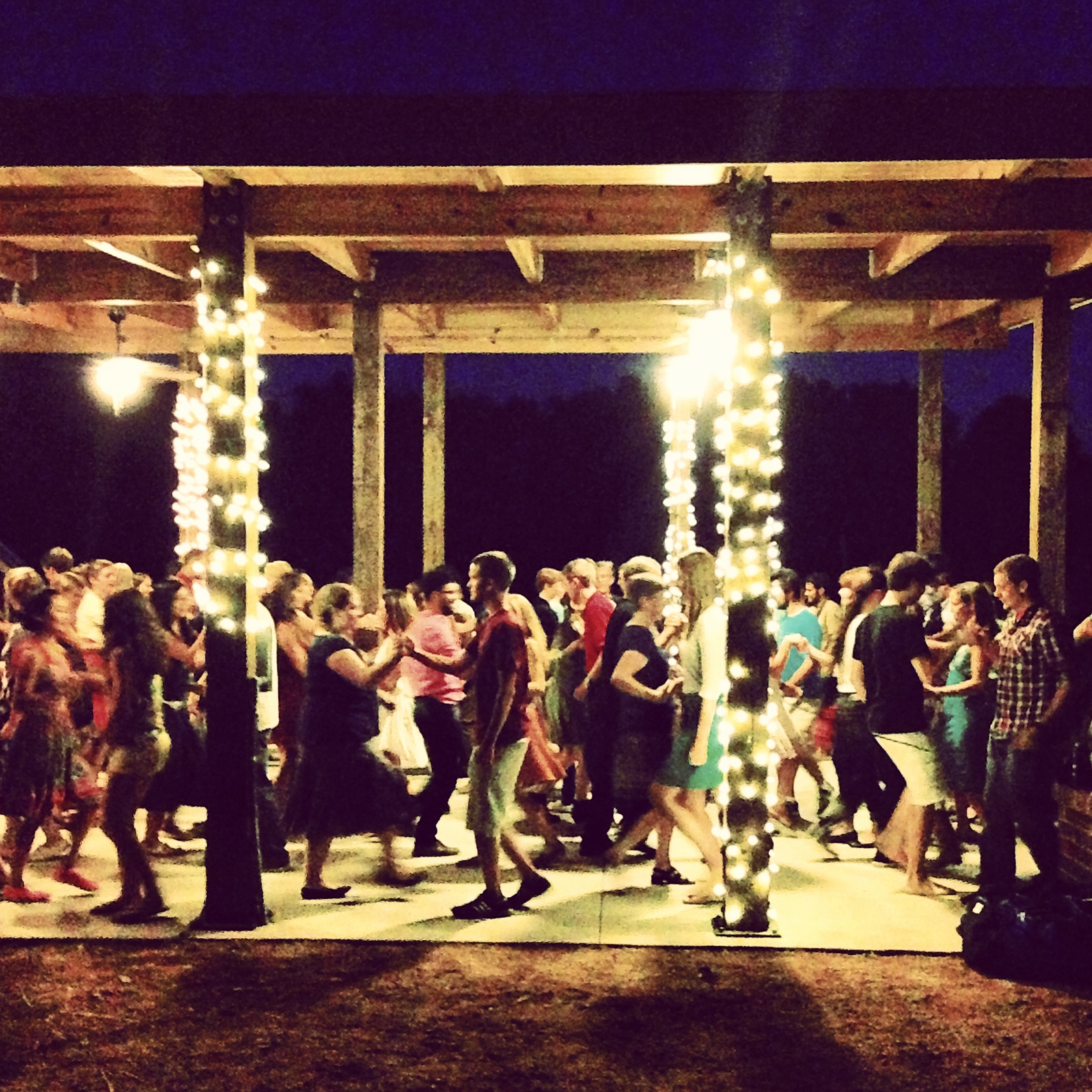 More than 150 students and community members danced under the stars in September 2013 to celebrate our new pavilion.