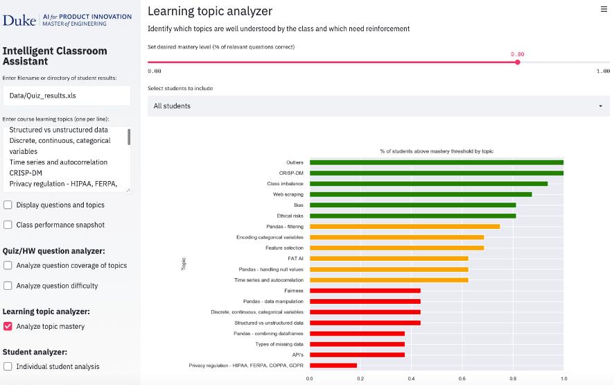 Duke AI Virtual Learning Assistant