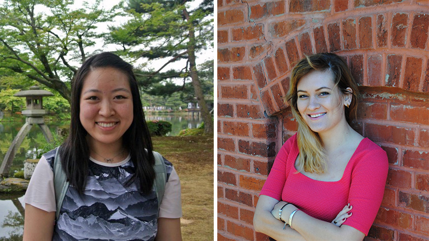 Humanities grad students Hannah Ontiveros and Kelly Tang participated in the NHC pilot program
