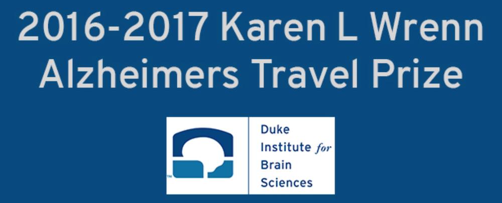 PhD Students Win 2016-2017 Karen L Wrenn Alzheimer's Disease Travel Prize