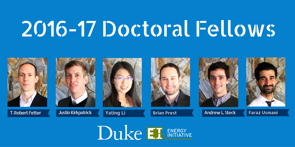 Energy Initiative Welcomes 2016-17 Doctoral Fellows