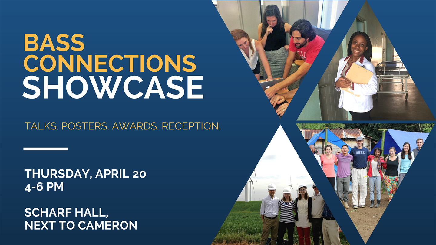 Interdisciplinary Research Teams to Present Results at Bass Connections Showcase