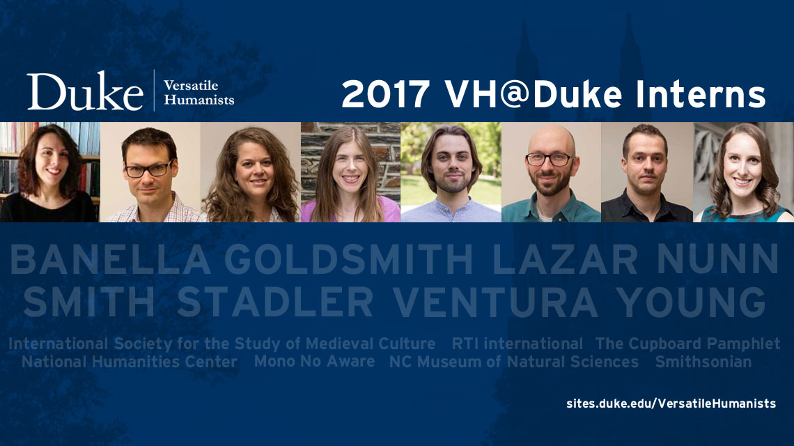 Eight Doctoral Students Receive Internships through Versatile Humanists