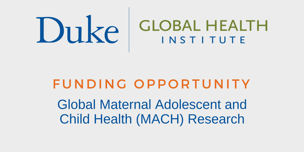 DGHI Is Accepting Proposals for Global Maternal Adolescent and Child Health Research
