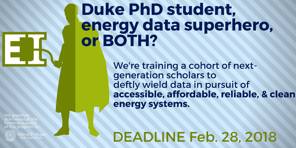 Doctoral Students Can Apply for a New Fellowship Program in Energy Data Analytics
