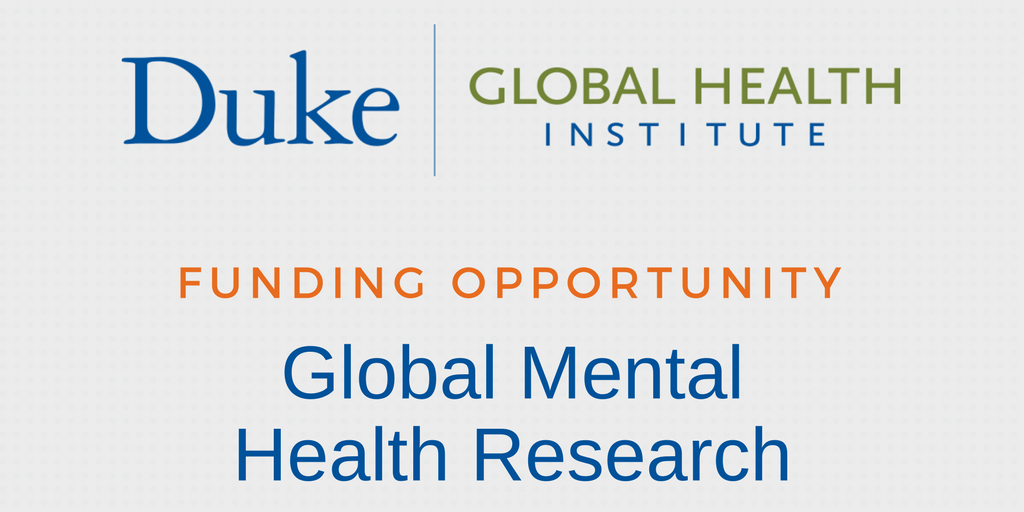 Duke Global Health Institute Seeks Pilot Proposals for Global Mental Health Research