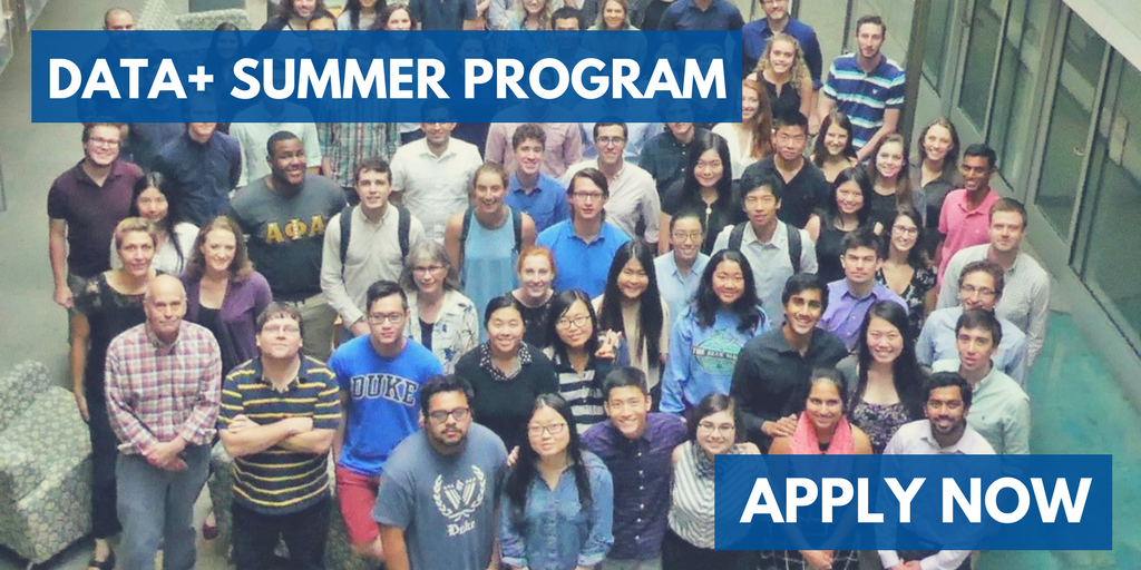 Information Initiative at Duke Invites Students to Apply for Data+ Summer Program