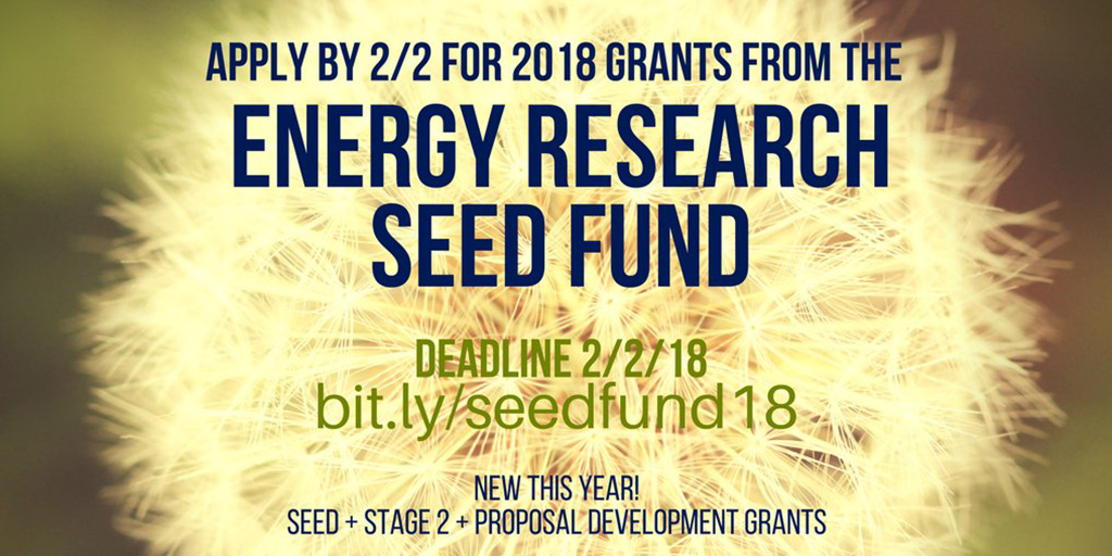 The Energy Initiative Invites Proposals for 2018 Seed Fund Grants