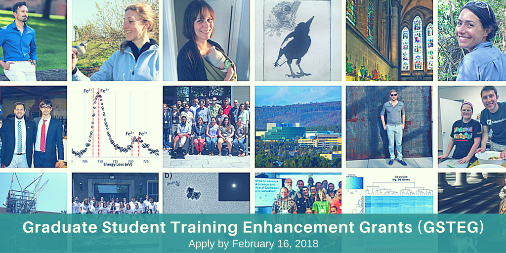 Graduate Students Can Enhance Their Core Training through GSTEG Grants