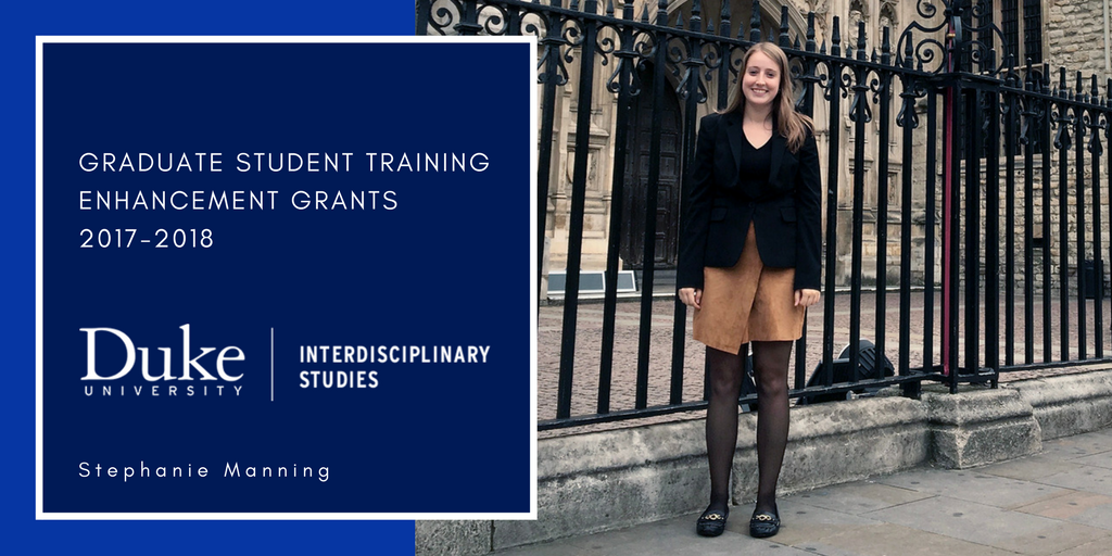 Stephanie Manning, Graduate Student Training Enhancement Grants