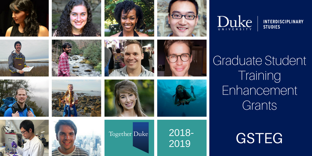 Fourteen Duke Graduate Students Receive Training Enhancement Grants