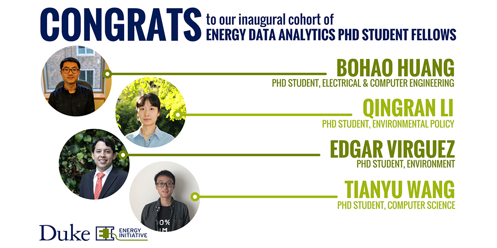 Meet the Energy Data Analytics Ph.D. Student Fellows for 2018-19