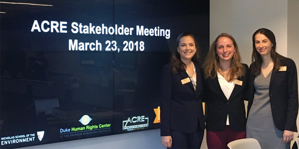 Kelsey Rowland, Carly Osborne, and Emily Meza at the stakeholder meeting in Washington