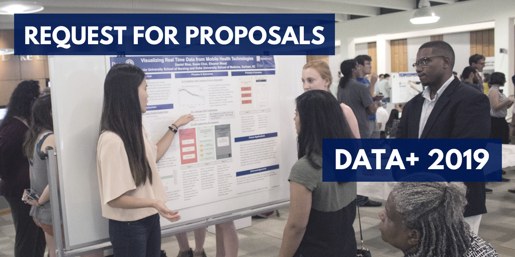 Faculty Can Submit Proposals for Data+ 2019 Student Research Projects