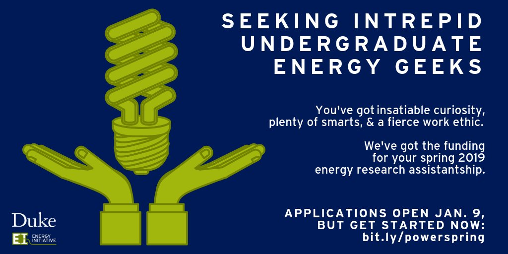 Promoting Opportunities with Energy Research (POWER) Offers Undergraduate Assistantships