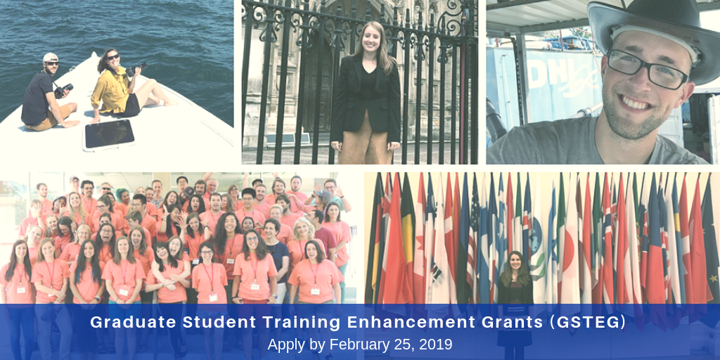 Graduate Students Can Apply for GSTEG Grants to Enhance Their Training