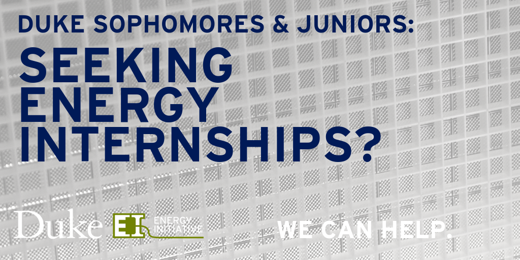 Energy Internship Program.