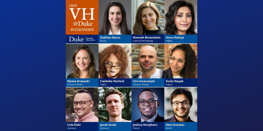 Eleven Doctoral Students Named 2019 VH@Duke Interns