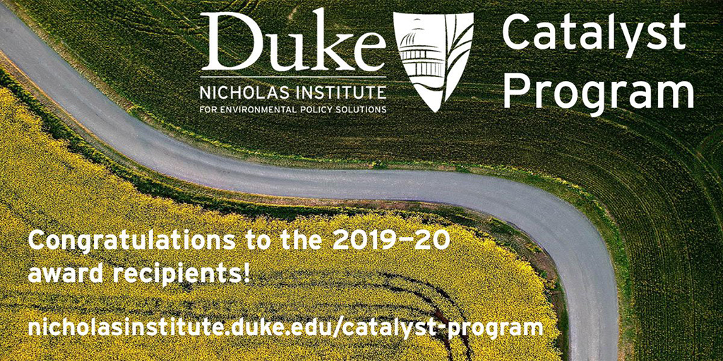 Nicholas Institute Awards Catalyst Funding to Six Duke Research Projects