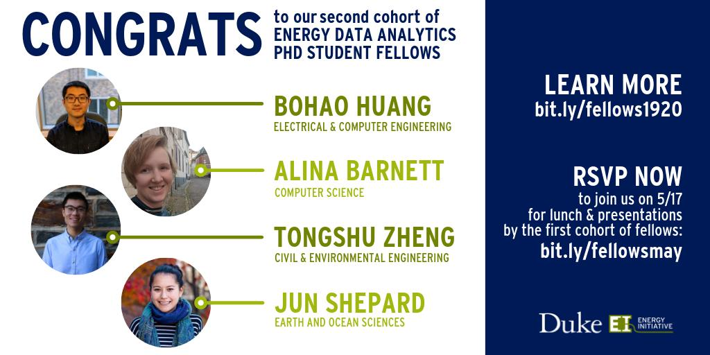 Meet the 2019-20 Energy Data Analytics Ph.D. Student Fellows