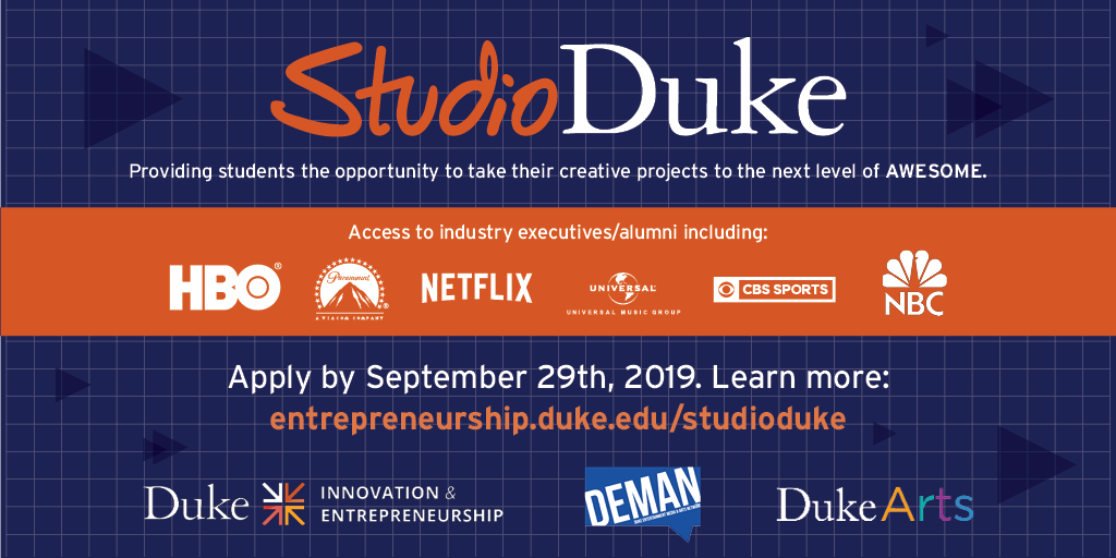 Apply for StudioDuke to Join a Creative Lab and Mentorship Program