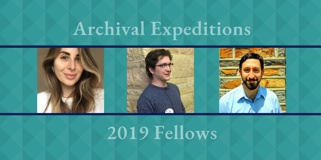 Archival Expeditions Fellows Will Incorporate Primary Sources into Course Modules