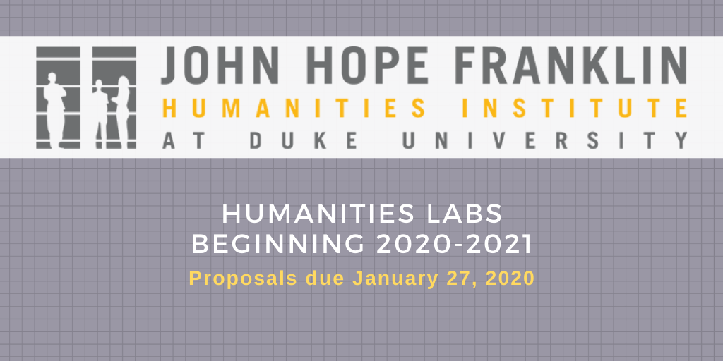 Faculty Can Propose New Humanities Labs to Begin in 2020-2021