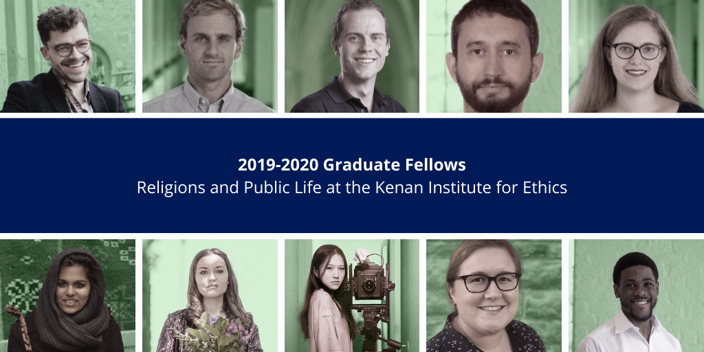 Ten Students Named 2019-2020 Graduate Fellows in Religions and Public Life
