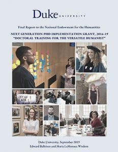 Versatile Humanists final report to NEH cover.