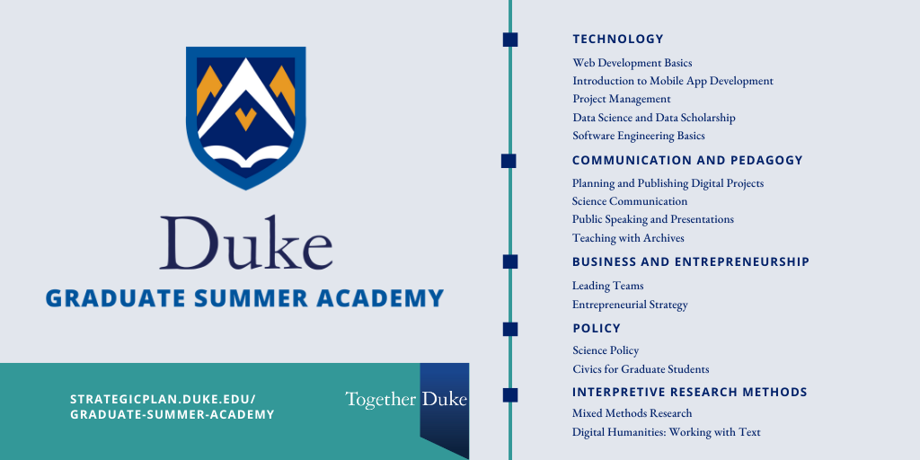 2020 Duke Graduate Summer Academy.