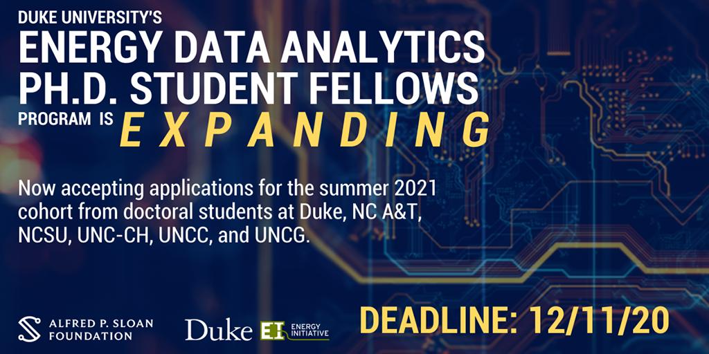 Energy Data Analytics Ph.D. Student Fellows.