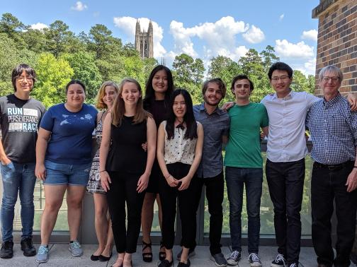 Students and faculty in 2019.