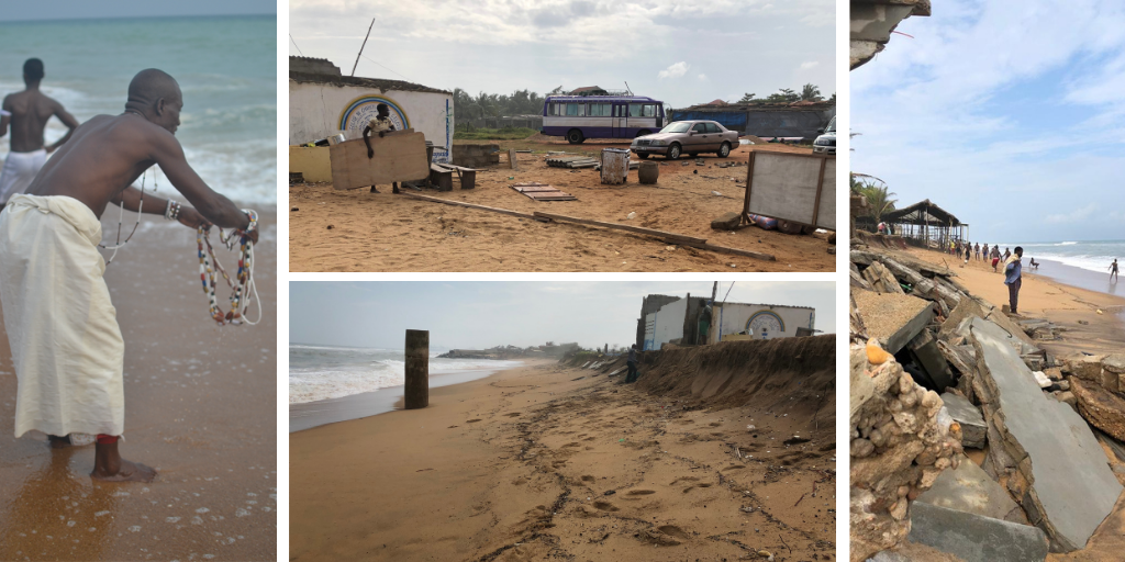 Scenes of coastal erosion.