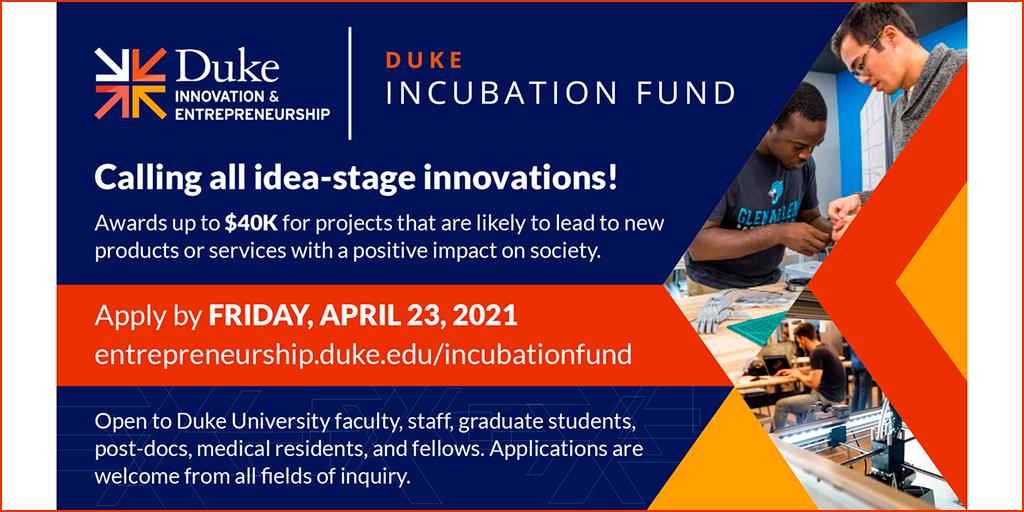 Incubation Fund.