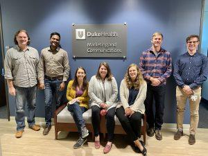 jake ratliff and duke health marketing and communications web team