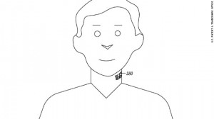 A patent for Google's neck 'tattoo' 6