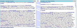 Fig. 7. A heat map of the rough draft and final draft of the Declaration of Independence from Juxta [8]
