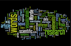 Entering text, such as the data from this essay, into text visualizers like Wordle augment the way that the data is perceived by the reader.