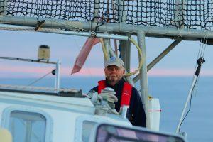 Our fearless skipper Niall.