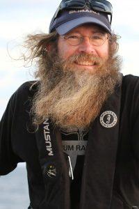 Andrew enjoying the wind beneath his beard.