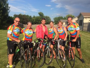 Great ride across Iowa with my family ( Team Trouble) July 2015 Ned and Alison with Rich, Julie, Andy and Christine.