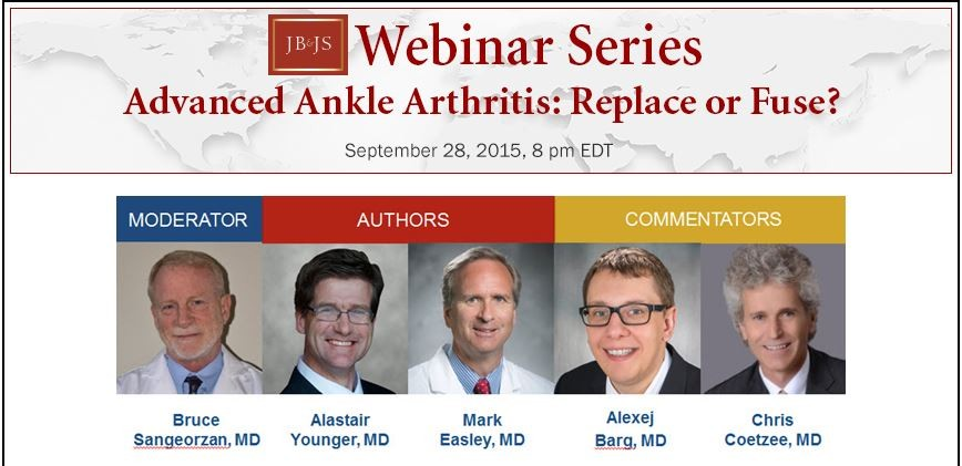 Dr. Easley Webinar Series - Advanced Ankle Arthritis - Replace or Fuse.