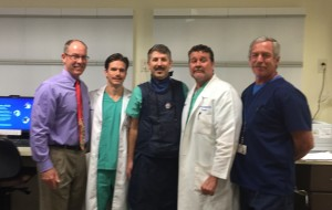 L to R: Don O'Malley MD (DOR), Justin Scruggs MD (Piedmont Spine), Jon (JJ) Wilson DO (Piedmont Spine), Greg Bentley MD (Piedmont Spine), Randy Lowe Xrat tech (Piedmont Spine)