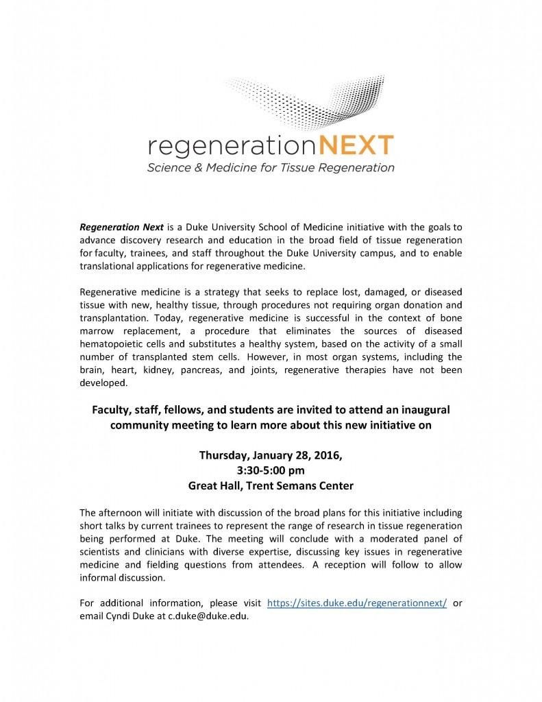 Inaugural RNDI Meeting Announcement