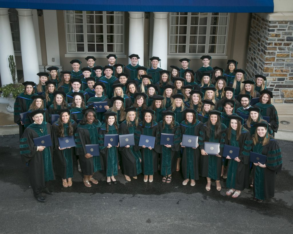 Doctor of Physical Therapy Graduation Class of 2016 group photo at Washington Duke Inn.